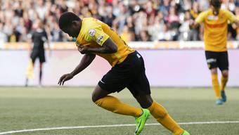 Beim 6:1 der Young Boys gegen St. Gallen ebenso gefeiert wie umstritten: der zweifache Torschütze Roger Assalé