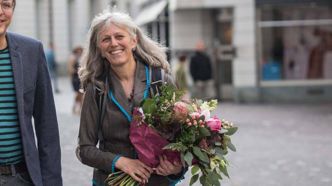 Grünen-Politikerin Monique Frey in Luzern.