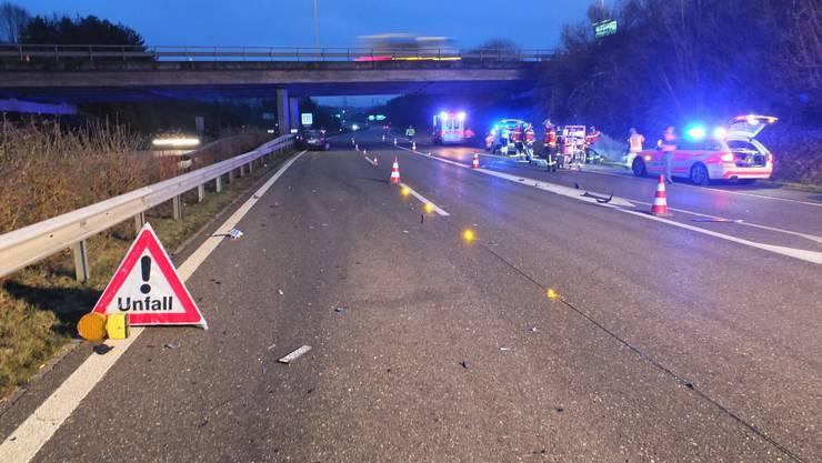 Die Autobahneinfahrt Mörschwil musste für rund zwei Stunden gesperrt werden.