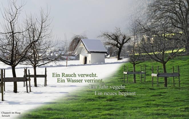 Übergang vom alten ins neue Jahr Aufnahme: Chappeli im Haag bei Selzach