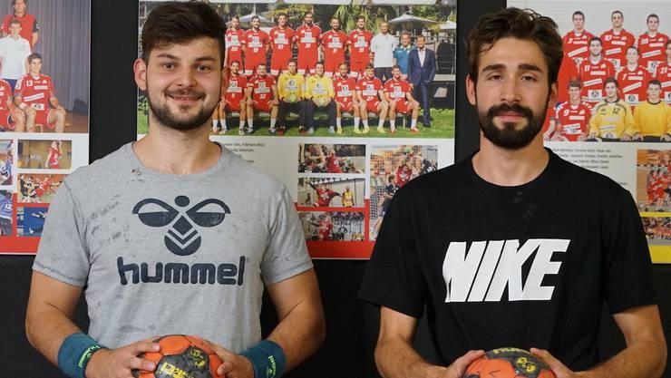 Karlo Ladan (links) und Oliver Mauron verstärken auf die nächste Saison den TV Endingen.