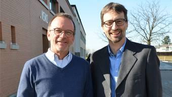 Louis Isenmann (links) und Roland Gindrat teilen sich die Aufgaben der Schulleitung so auf, dass keine Doppelspurigkeiten mehr entstehen. Christian Breitschmid