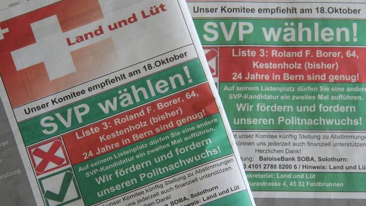 Kurt Küng hat wieder zugeschlagen: Er möchte SVP-Urgestein Roland F. Borer nicht mehr nach Bern schicken.