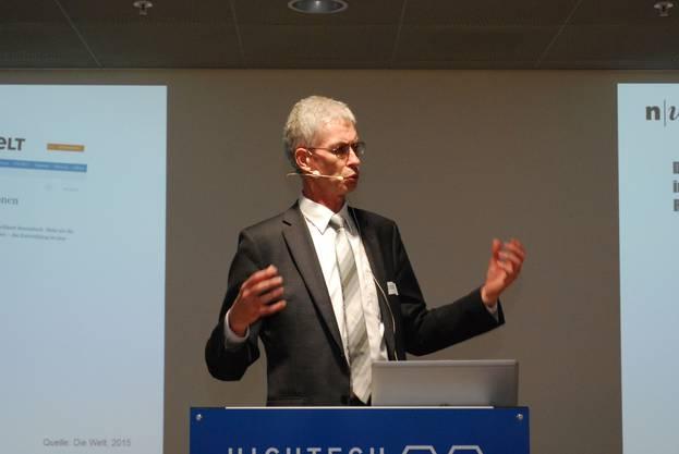 Prof. Jürg Christener: Wertschöpfung ist unser gemeinsames Ziel und soll Arbeitsplätze schaffen.