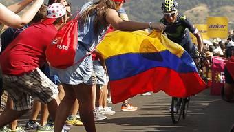 Der Kolumbianer Nairo Quintana ist sein Leadertrikot nach nur einem Tag bereits wieder los