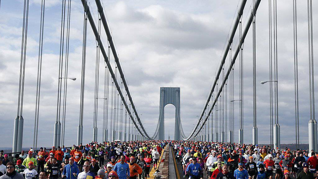 Tausende von Läufer werden am Sonntag den berühmten New-York-Marathon bestreiten.