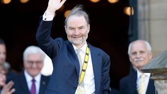 Der mit dem Karlspreis ausgezeichnete Timothy Garton Ash in Aachen