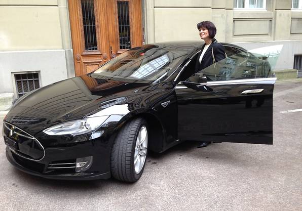 Sommaruga hat Doris Leuthards Tesla-Dienstwagen übernommen. (Archiv)