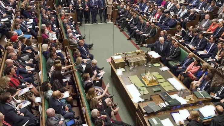 Das House of Commons. Das Bild vergrössert sich durch Anklicken.