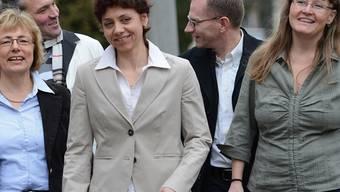 Optimistisch: Annemarie Pfeifer (EVP), Andreas Tereh (Grüne), Christine Kaufmann (EVP), Guido Vogel, (SP) und Franziska Roth (SP, v.l.). Juri Junkov