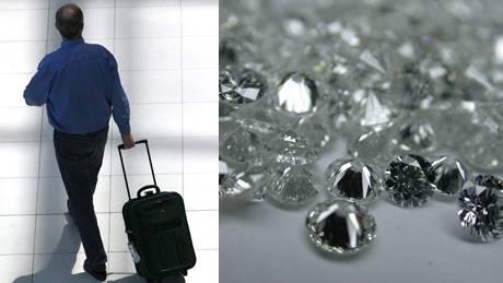 ...und weg ist der wertvolle Diamanten-Trolley. (Symbolbilder)