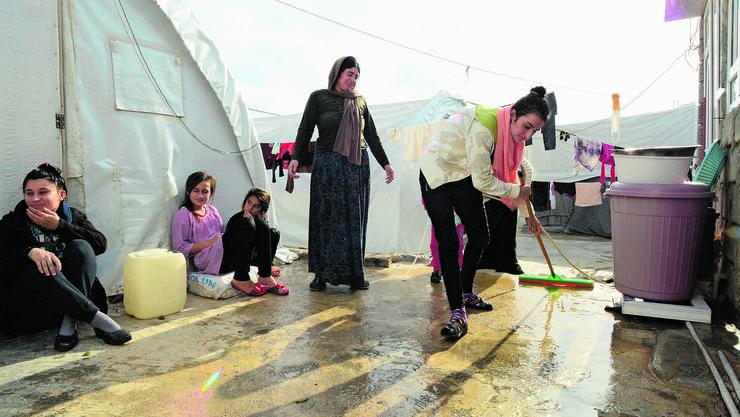 Auch im Flüchtlingslager Esyan – eines von 22 Flüchtlingslagern in der autonomen Region Kurdistan im Norden des Iraks – leben seit Jahren Jesiden
