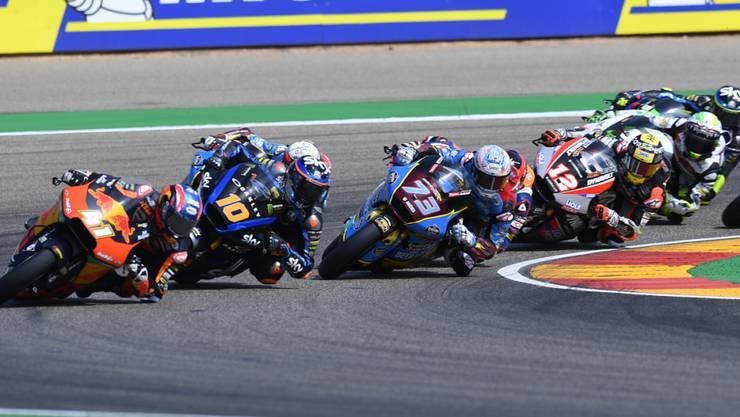 Der Südafrikaner Brad Binder führt das Moto2-Feld an vor Luca Marini, dem spanischen WM-Leader Alex Marquez und dem Emmentaler Tom Lüthi