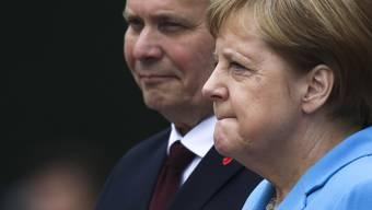 Erlitt erneut einen Zitteranfall: Bundeskanzlerin Angela Merkel
