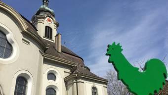 In der Kirche St. Marien in Windisch wird die Erlangung des Umweltlabels «Grüner Güggel» gefeiert.