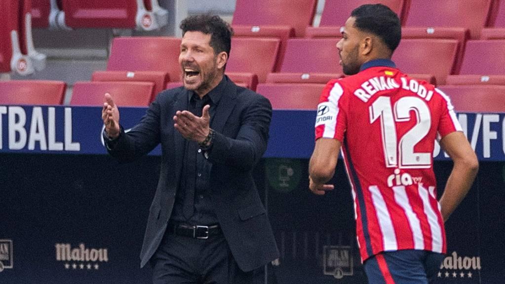 Atléticos Trainer Diego Simeone fand auch beim klaren 5:0-Sieg über Schlusslicht Eibar einiges Verbesserungspotenzial.