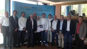 Die Macher der Route Gourmande Solheure 2015 mit Stadtpräsident Kurt Fluri und Torismusdirektor Jürgen Hofer.