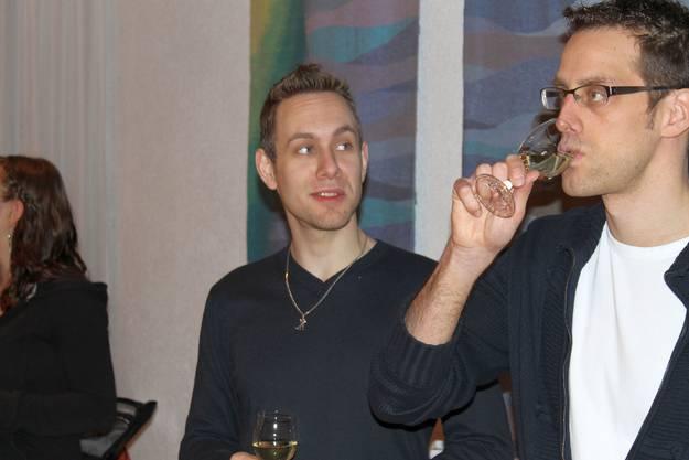 MGK Präsident Matthias Zeltner und Aktuar Daniel Widmer