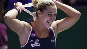 Dominika Cibulkova freut sich riesig über den Finaleinzug