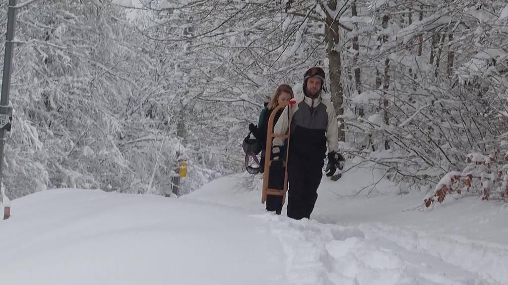 Erneut viel Schnee im Flachland
