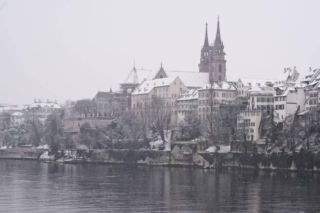 Blick auf das winterliche Münster