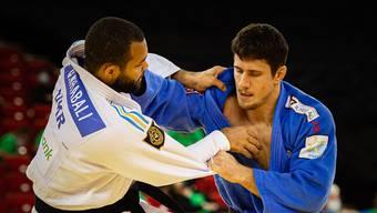 Gegen den Ukrainer Quedjau Nhabali setzte sich Ciril Grossklaus (r.) in der zweiten Runde durch.