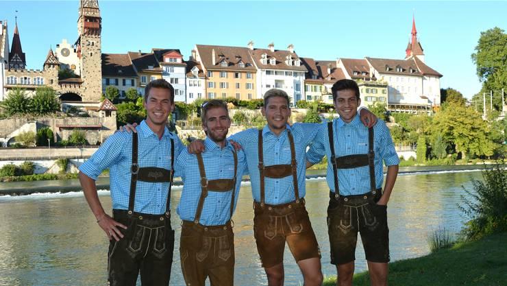 Der Vorstand des Freizeitvereins Rüsskult: Florian Keusch, Manuel Imhof, Tiago Schmid und Marco Gut (von links).