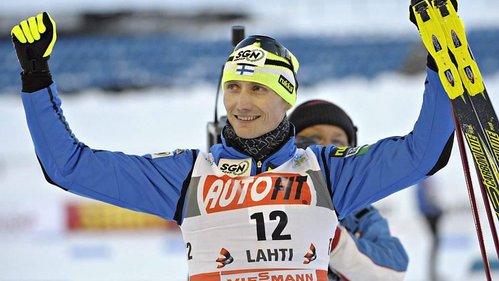 Hannu Manninen hatte im März 2011 seinen letzten Wettkampf bei den Kombinierern bestritten - ebenfalls in Lahti