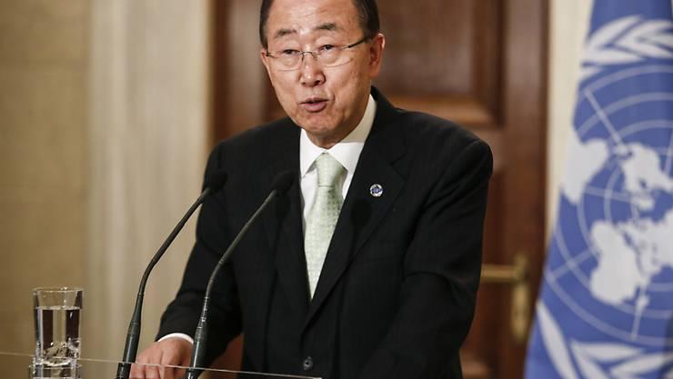 UNO-Generalsekretär Ban Ki Moon ruft sämtliche Konfliktparteien zu einem Waffenstillstand während der Olympischen Spiele auf. (Archiv)
