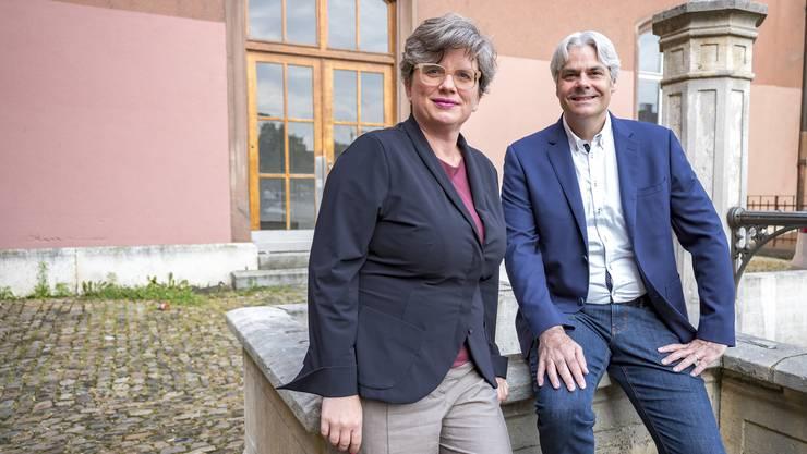 Katrin Grögel, Co-Leiterin der Abteilung Kultur und Kantons- und Stadtentwickler Lukas Ott wollen Dynamik ins Kasernenareal bringen.