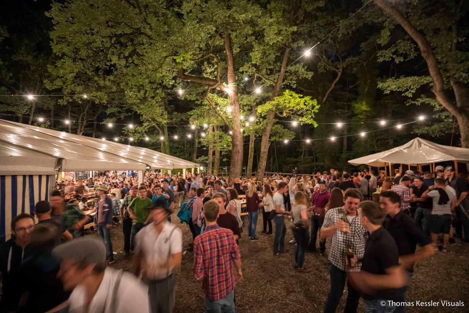 Im Tiergarten in Mels steigt dieses Wochenende eine grosse Sause. (Bild: Facebook/Knabengesellschaft Heiligkreuz)