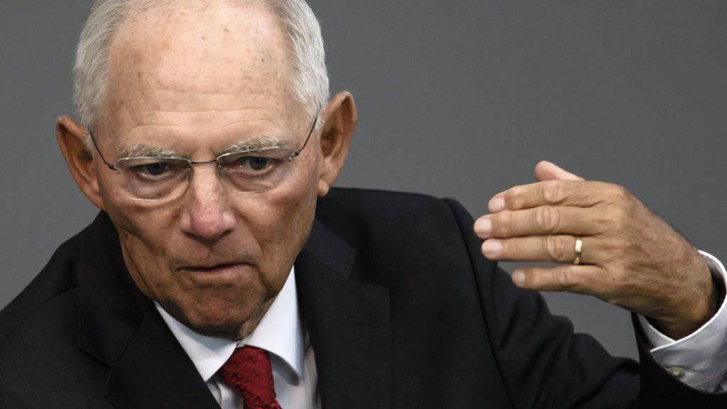 Die Unionsfraktion schlägt Finanzminister Schäuble als nächsten Bundestagspräsidenten vor.