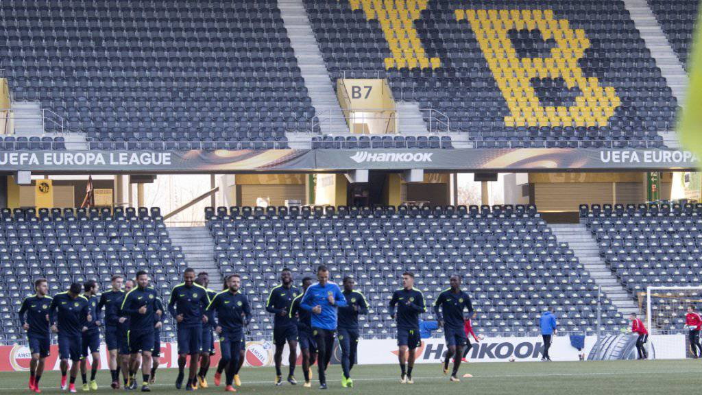 Die Young Boys bereiten sich auf das Europa-League-Heimspiel gegen Dynamo Kiew vor