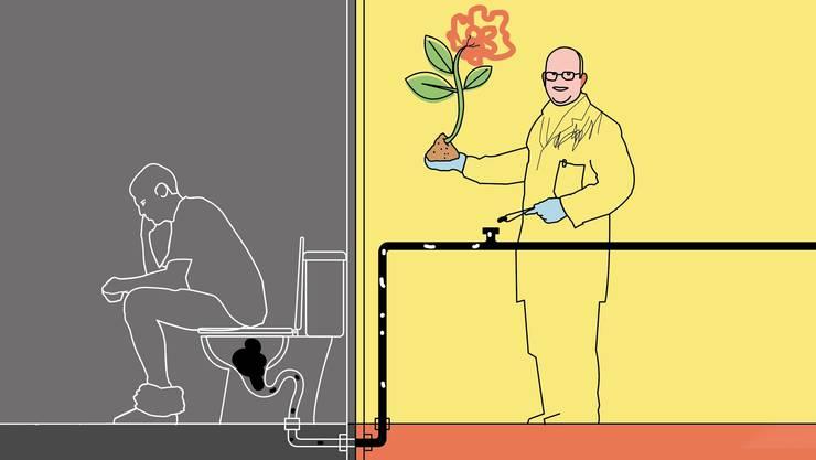 Was der Mensch ausscheidet, enthält für Pflanzen wertvolle Nährstoffe.