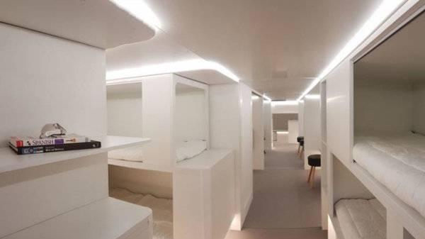 Betten im Frachtraum von Airbus