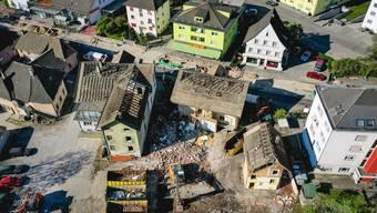In Derendingen werden die Gebäude an der Hauptstrasse 13, 15 und 17 abgerissen