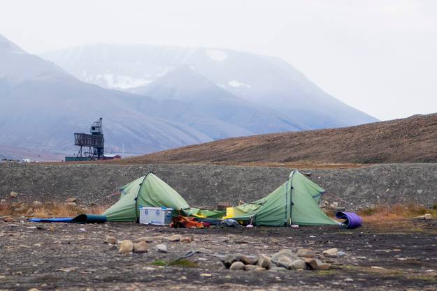 Der 38-Jährige war morgens um 4 Uhr in diesem Zelt attackiert worden.