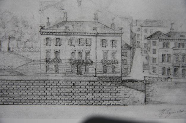 Unten am Stalden bestand 1860 der nicht ausgeführte Plan von Wilhelm Tugginer, dieses Haus zu bauen