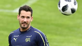 Bürki spielt seit 2015 bei Borussia Dortmund. Im Bild: Während des Trainings mit der Schweizer Nationalmannschaft