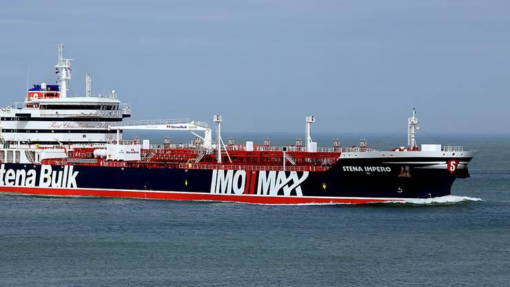 """Die iranischen Revolutionsgarden hatten den britischen Tanker """"Stena Impero"""" am Freitag in der Strasse von Hormus aufgebracht. Womöglich ist die Beschlagnahmung eine Vergeltung für die andauernde Festsetzung eines iranischen Tankers im britischen Überseegebiet Gibraltar."""