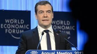 """""""Dialog mit europäischen Freunden"""": Medwedew in Davos"""