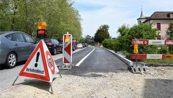 Auf einer Länge von 320 Metern laufen derzeit die Bauarbeiten auf der Zurzacherstrasse.