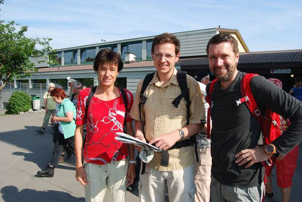 CVP-Nationalrätin Ruht Humber, Chefredaktor Christian Dorrer und Peter Grünenfelder, Generalsektretär der Regierung