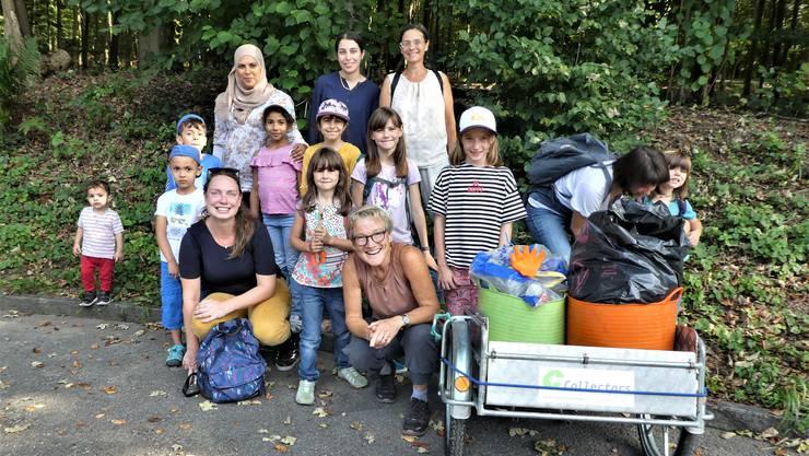 Clean-up-day im Hardwald: Gruppenfoto