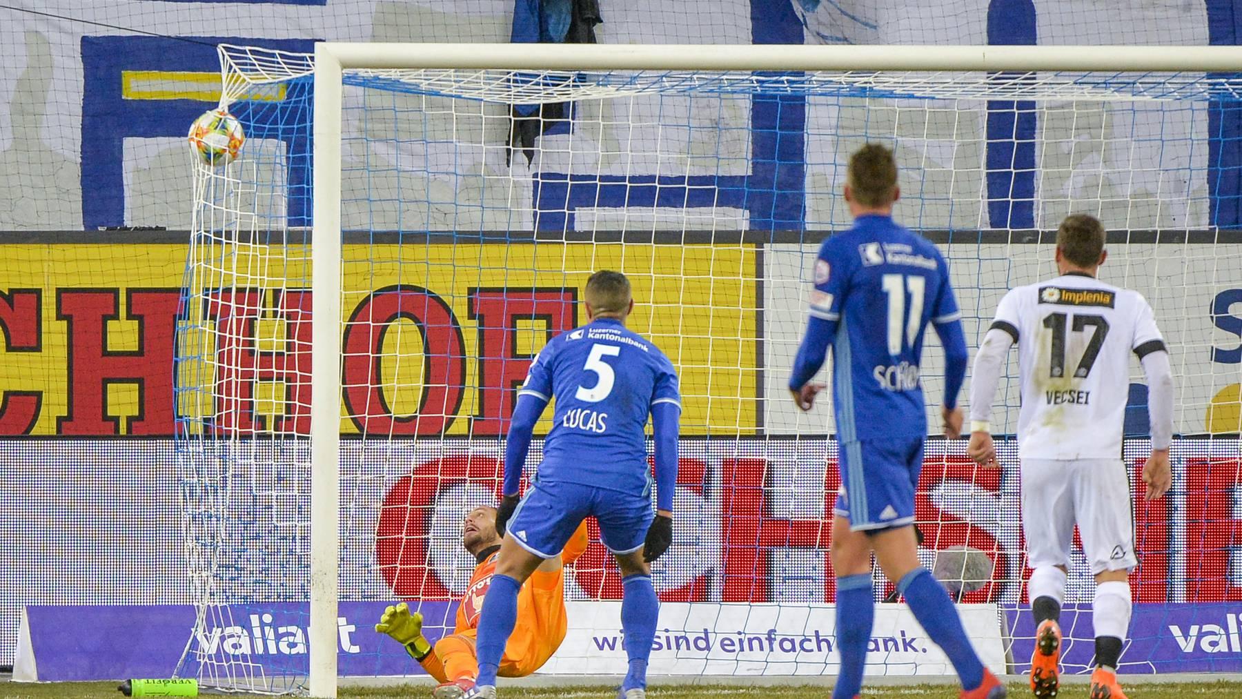 FC Luzern unterliegt Lugano 0:3