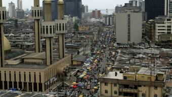 Ein Bilder der nigerianischen Metropole Lagos.