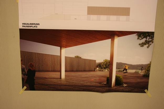 So sehen die Architekten die neue Turnhalle.