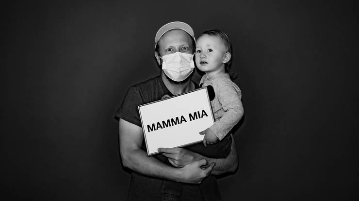 """""""Mamma mia"""": War das Wort des zweitjüngsten Fotomodels."""
