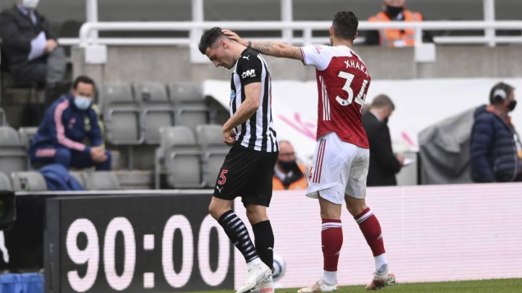 Fabian Schär bei Niederlage gegen Arsenal vom Platz gestellt
