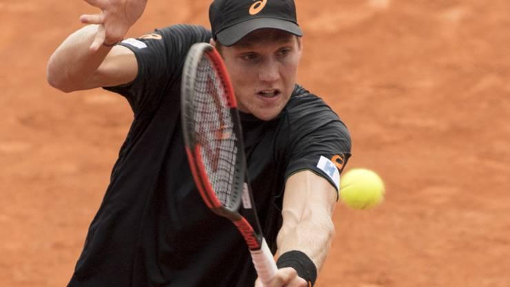 Wie vor einem Jahr in Gstaad in der 1. Runde gescheitert: der Genfer Davis-Cup-Spieler Antoine Bellier